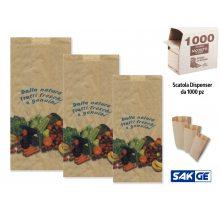 Sakge - Sacchetti di Carta Ortofrutta Alimenti - Scatola dispenser da 1000 pz