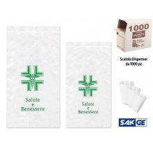 Sacchetti di Carta per Farmacia cm 14x30 - Scatola dispenser da 1000 pz
