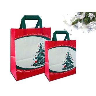 Sakge - Shopper carta natalizie stampate con Albero di Natale e Merry Christmas