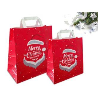 Sakge - Shopper di carta natalizie rosso stampate Merry Christmas