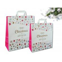 Sakge - Shopper carta natalizie stampate Merry Christmas