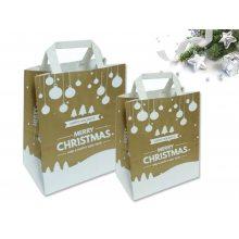 Sakge - Shopper di carta natalizie stampate Merry Christmas