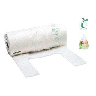 Sakge - Rotolo shopper compostabili ortofrutta alimenti