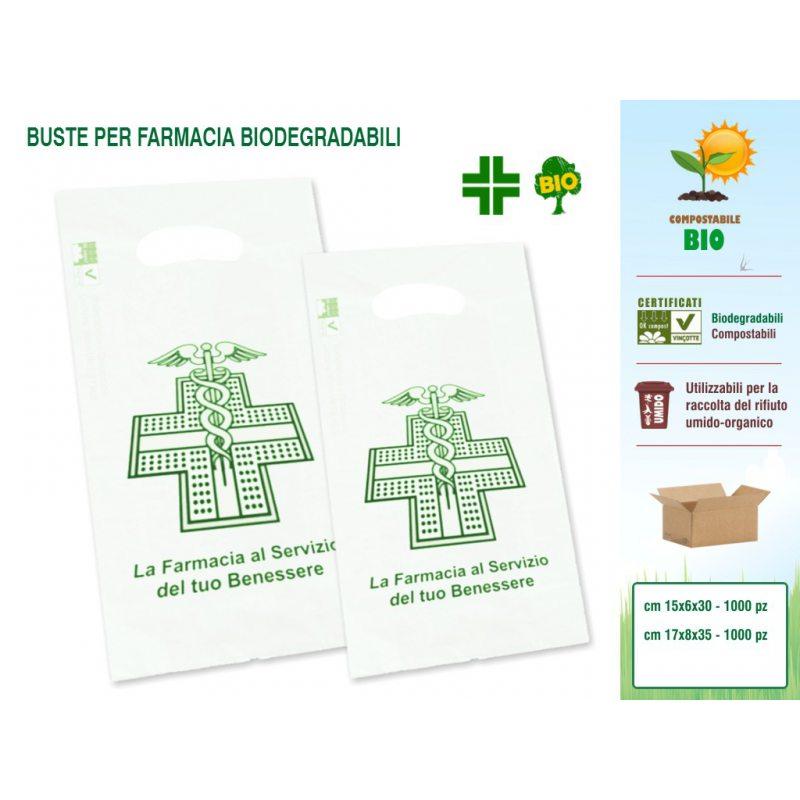 Sakge - Buste per Farmacia compostabili biodegradabili