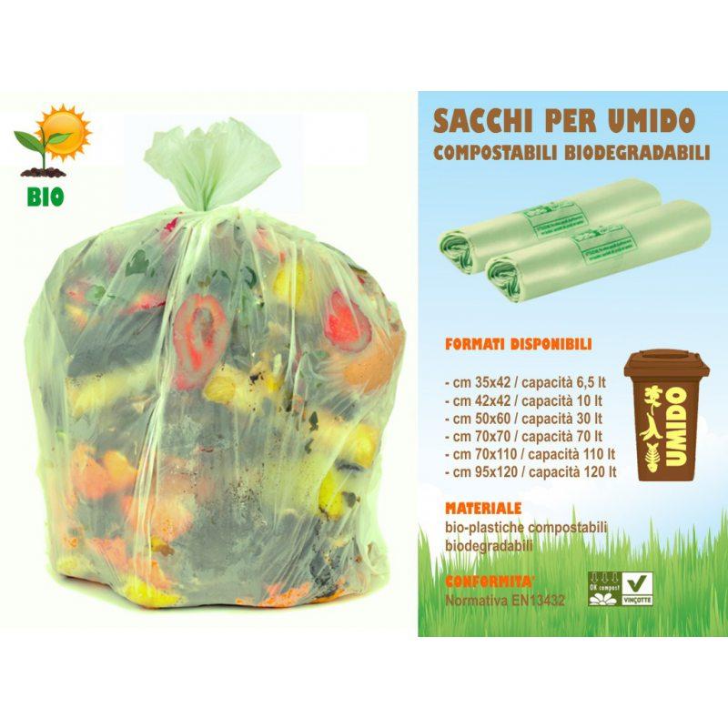Sakge - Sacchetti per la raccolta umido compostabili biodegradabili
