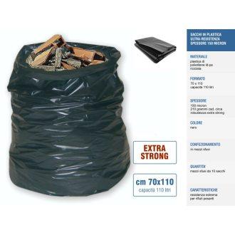 Sakge - Ultra Resistenti! Sacchi neri 70x110 spessore 150 micron