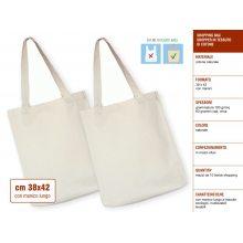 Sakge - Shopper di tessuto in cotone cm 38x42