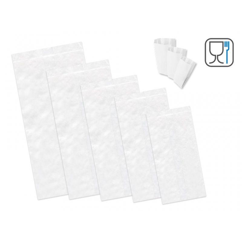 Sacchetti di carta bianca per alimenti, pane, dolci