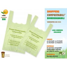 Sakge - Borse shopper biodegradabili compostabili cm 27x16x50