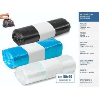 Sakge - Sacchetti raccolta differenziata colorati 50x60 30 litri