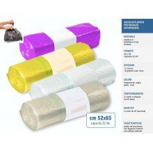 Sacchetti raccolta differenziata cm 52x65 32 litri, rotoli da 20pz - Trasparente