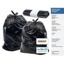 Sakge - Sacchi neri grandi robusti cm 90x120 spessore 73 micron
