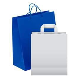 Borse shopper di carta