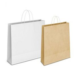 Shopper bianco o avana manici corda ritorta