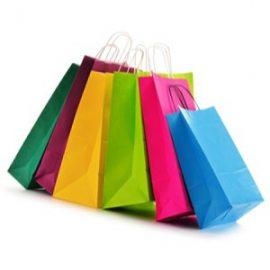 Borse shopper di carta colorata - Sakge