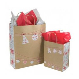 Buste e sacchetti natalizi - Borse shopper carta Natale - Sakge